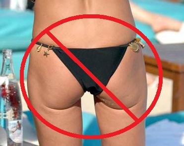 String bikini ass pics — 1