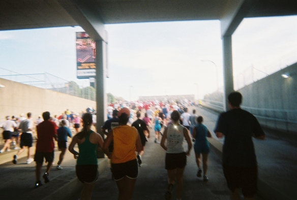 I took this amazing, blurry photo when I ran this race in 2010 back when I thought it was important to take pictures during a race.